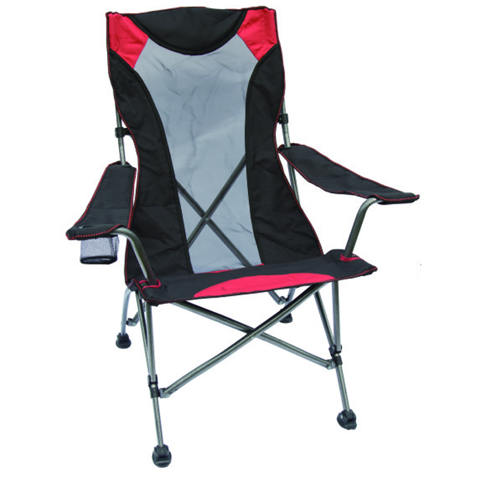 6x300D polyester steel tube duluxe quad chair