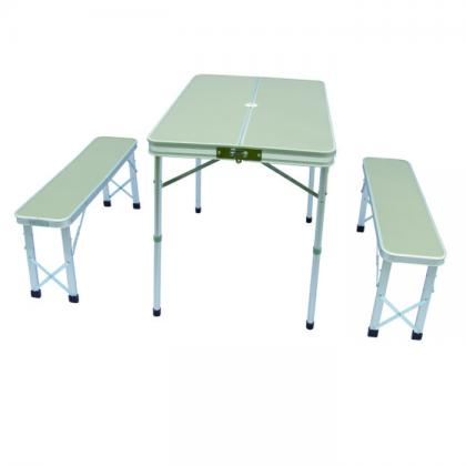 5mm MDF alu tube camp folding table for outdoor picnic