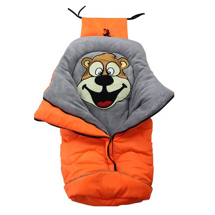 Coral fleece soft polyester wadding warm baby sleeping bag